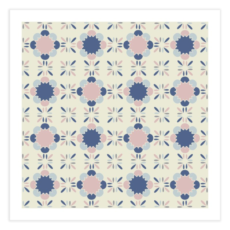 Pastel Tile Home Fine Art Print by Caligráfica