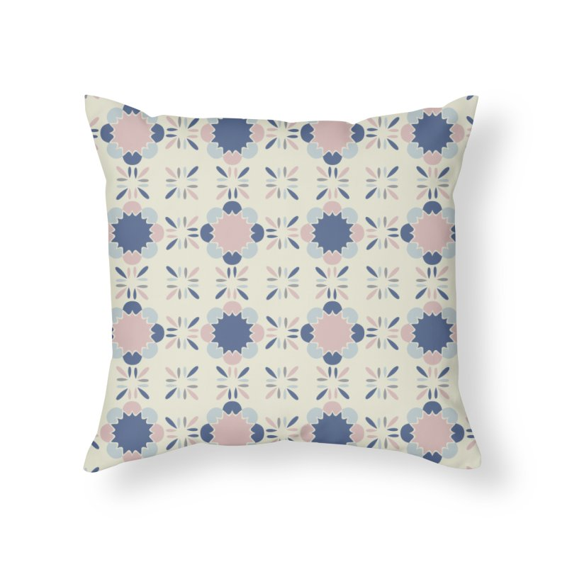 Pastel Tile Home Throw Pillow by Caligráfica