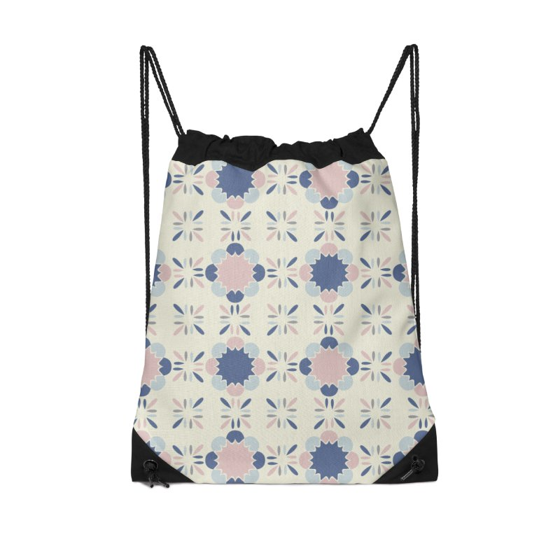 Pastel Tile Accessories Drawstring Bag Bag by Caligráfica