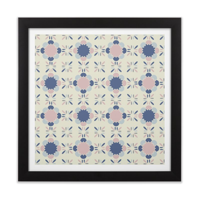 Pastel Tile Home Framed Fine Art Print by Caligráfica