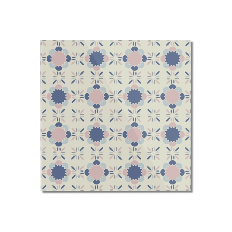 Pastel Tile Home Mounted Acrylic Print by Caligráfica