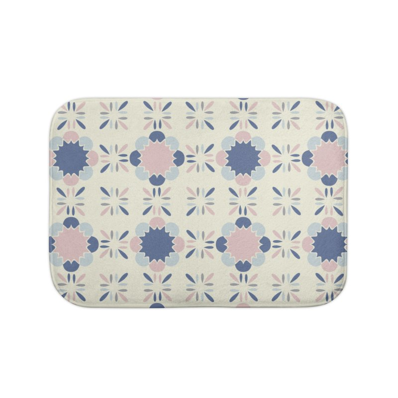 Pastel Tile Home Bath Mat by Caligráfica