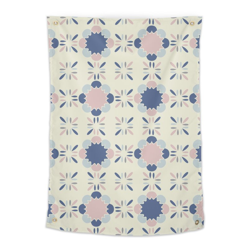 Pastel Tile Home Tapestry by Caligráfica