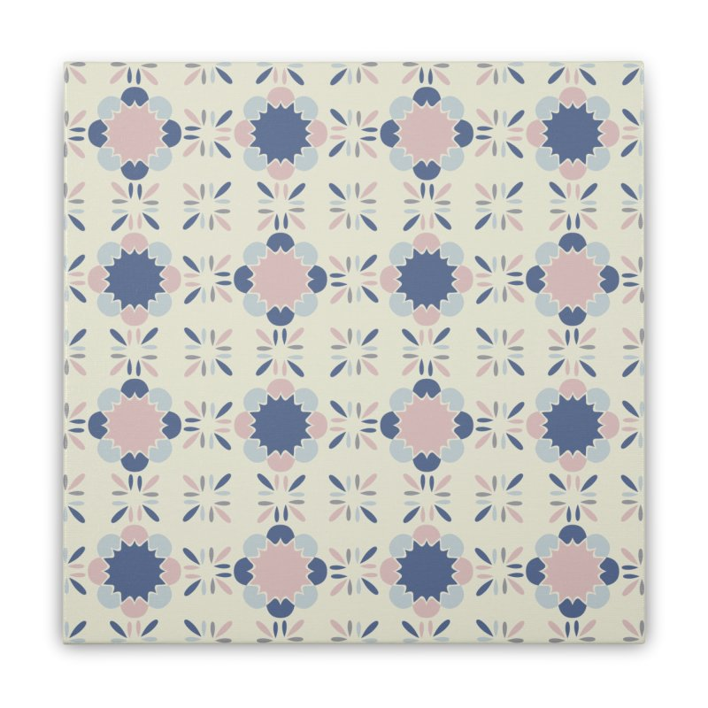 Pastel Tile Home Stretched Canvas by Caligráfica