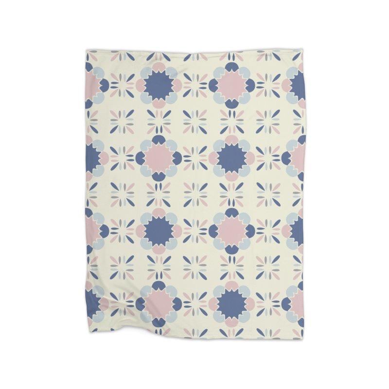 Pastel Tile Home Fleece Blanket Blanket by Caligráfica