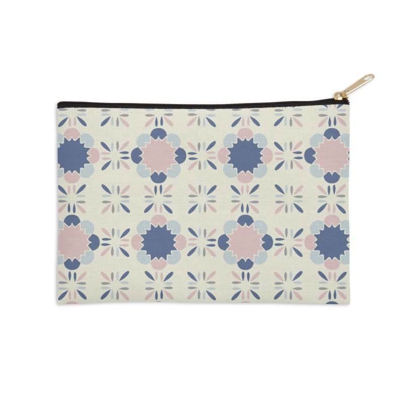 Pastel Tile Accessories Zip Pouch by Caligráfica