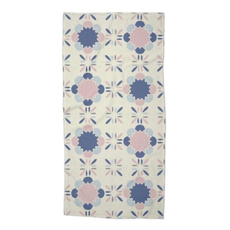 Pastel Tile Accessories Beach Towel by Caligráfica