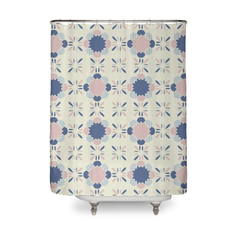 Pastel Tile Home Shower Curtain by Caligráfica