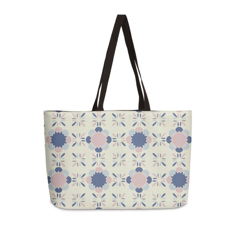 Pastel Tile Accessories Weekender Bag Bag by Caligráfica