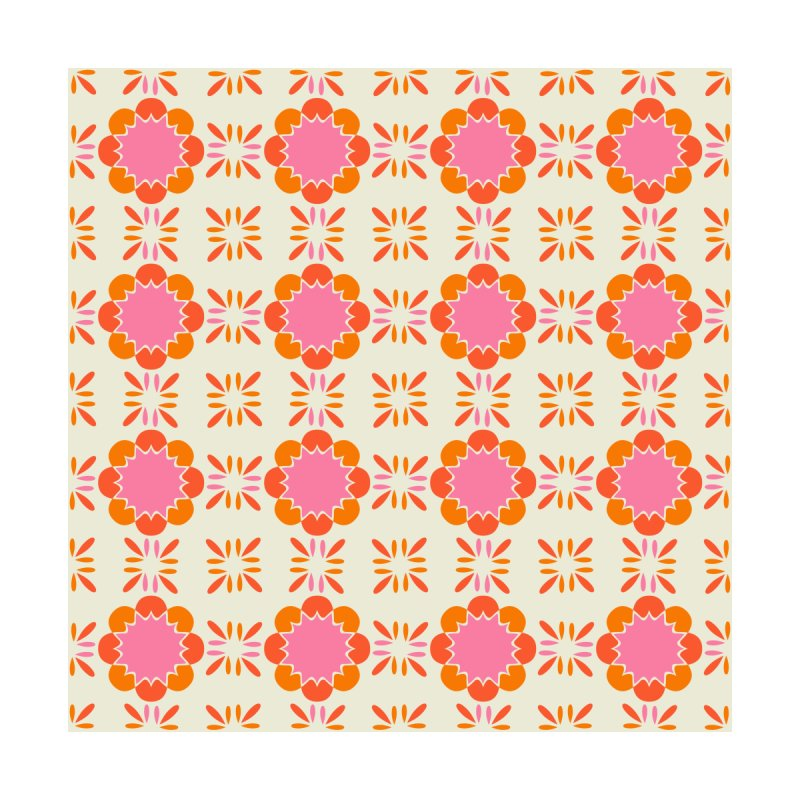 Sixties Tile Home Fine Art Print by Caligráfica