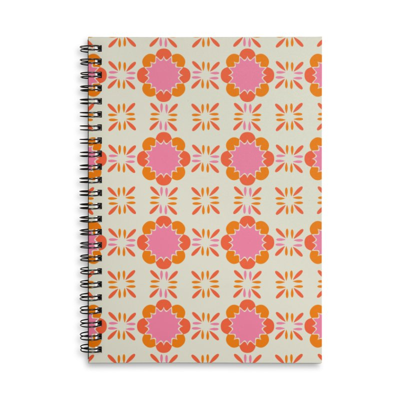 Sixties Tile Accessories Lined Spiral Notebook by Caligráfica