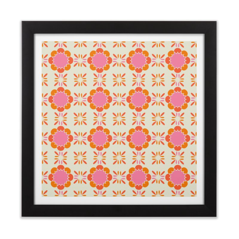 Sixties Tile Home Framed Fine Art Print by Caligráfica