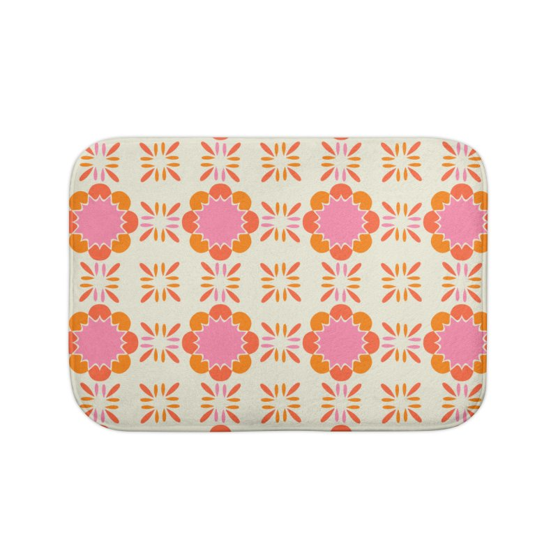 Sixties Tile Home Bath Mat by Caligráfica