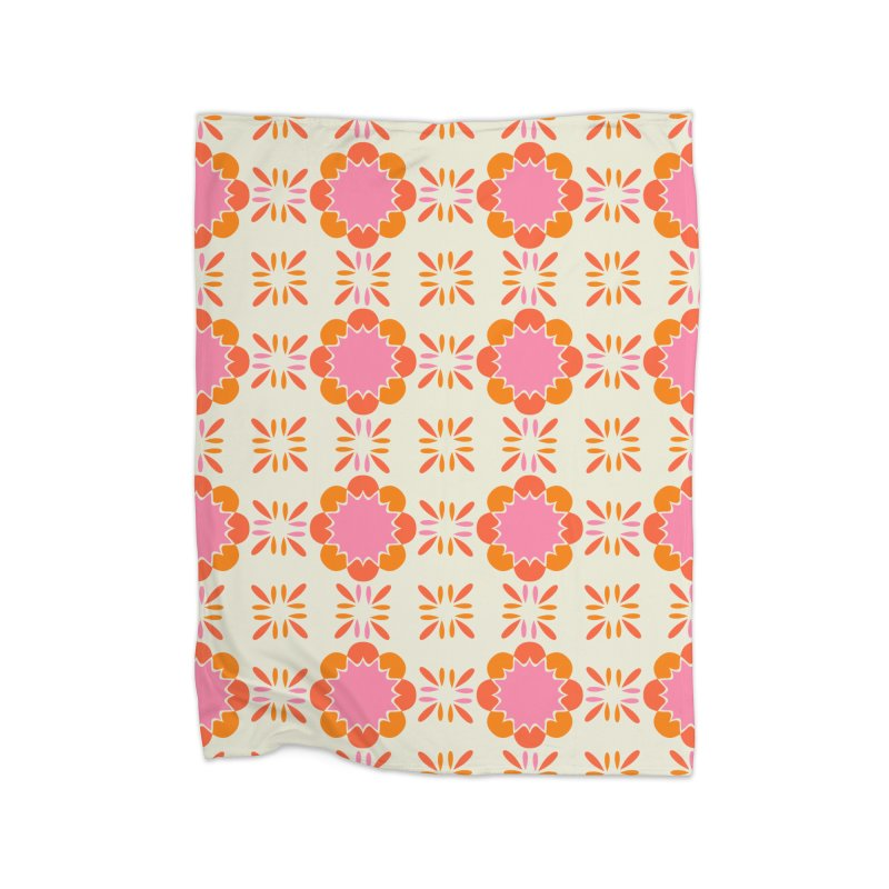 Sixties Tile Home Blanket by Caligráfica