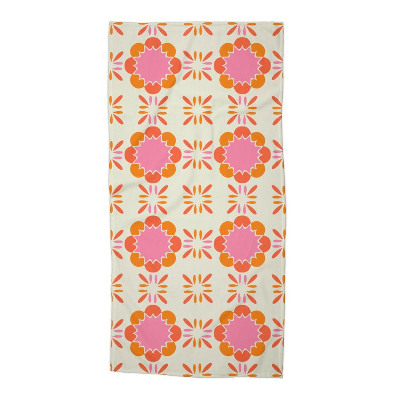 Sixties Tile Accessories Beach Towel by Caligráfica