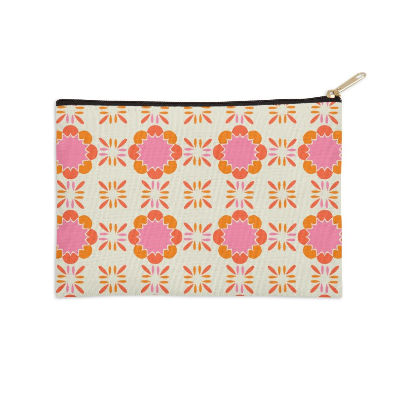 Sixties Tile Accessories Zip Pouch by Caligráfica