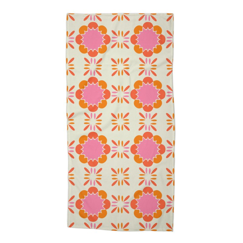 Sixties Tile Accessories Beach Towel by Caligráfica