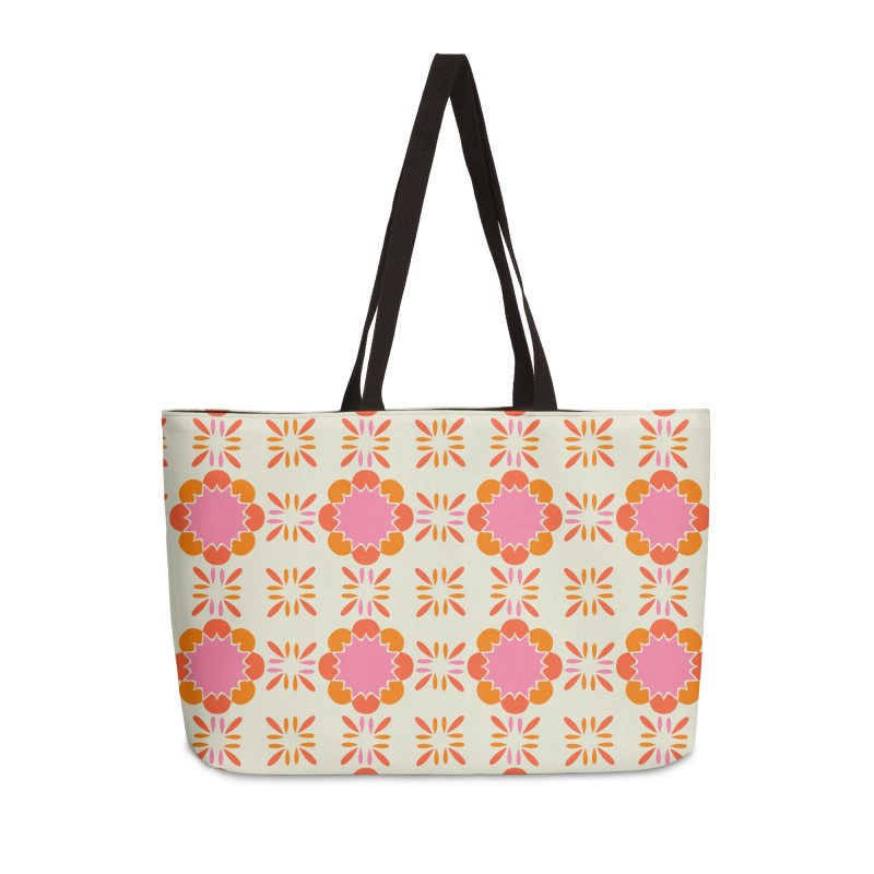 Sixties Tile Accessories Weekender Bag Bag by Caligráfica