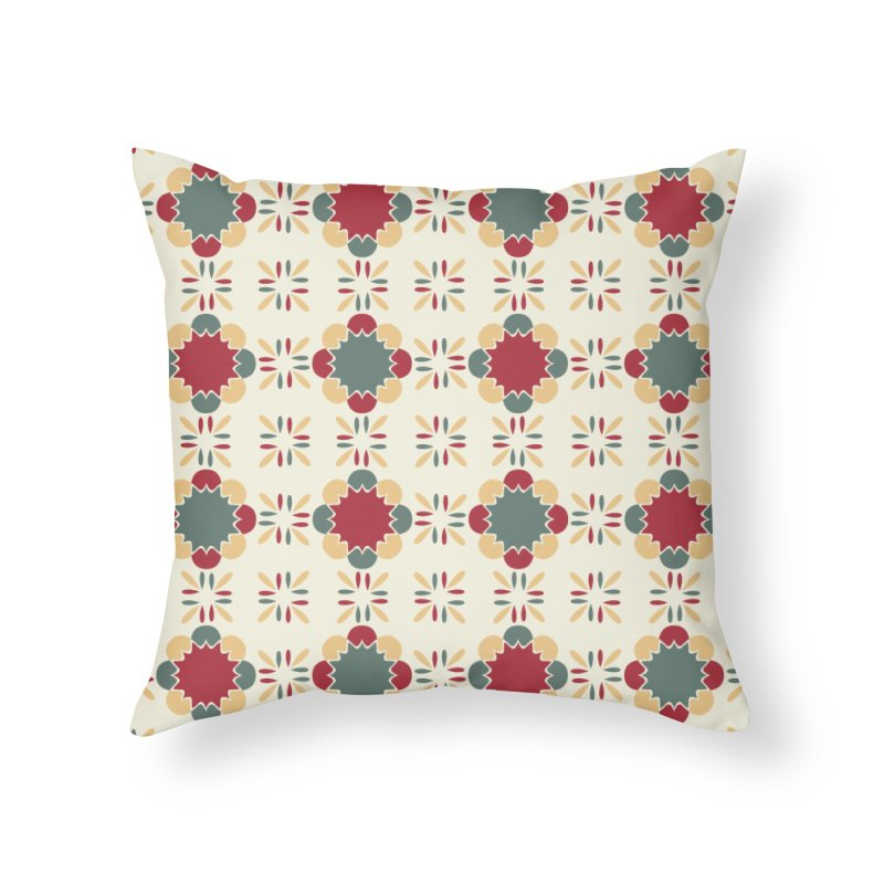 Póvoa Tile Home Throw Pillow by Caligráfica