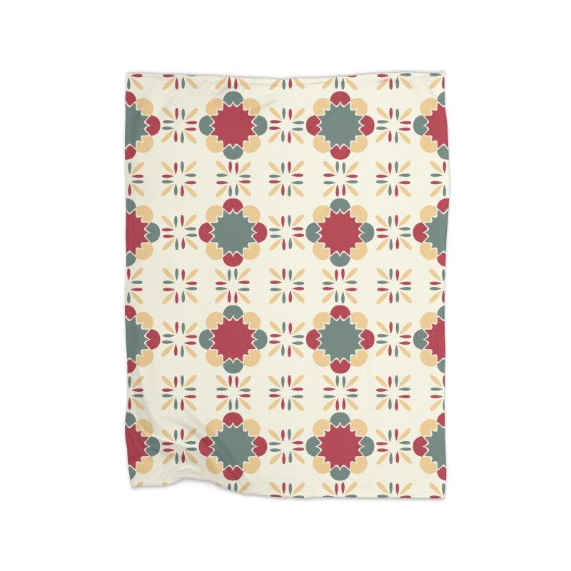 Póvoa Tile Home Fleece Blanket Blanket by Caligráfica