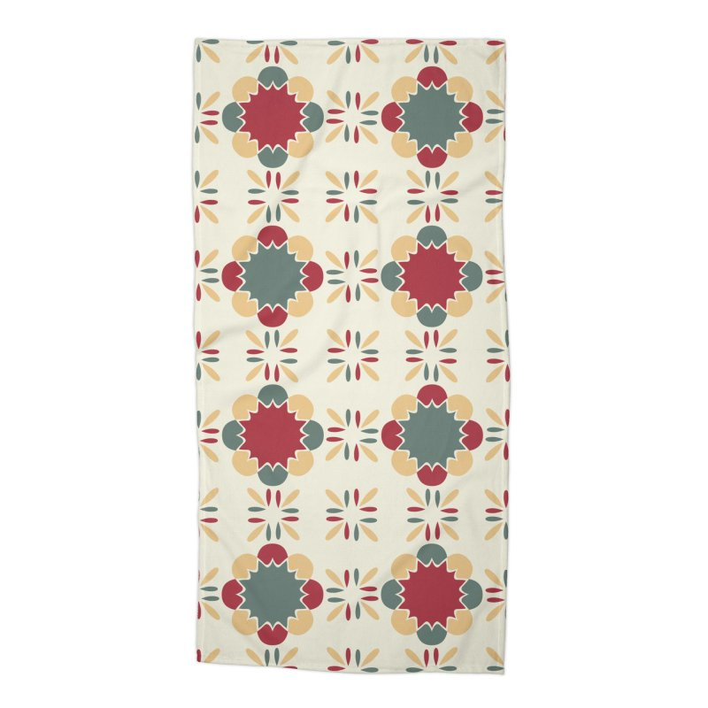 Póvoa Tile Accessories Beach Towel by Caligráfica