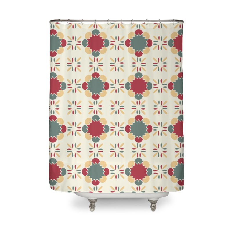 Póvoa Tile Home Shower Curtain by Caligráfica