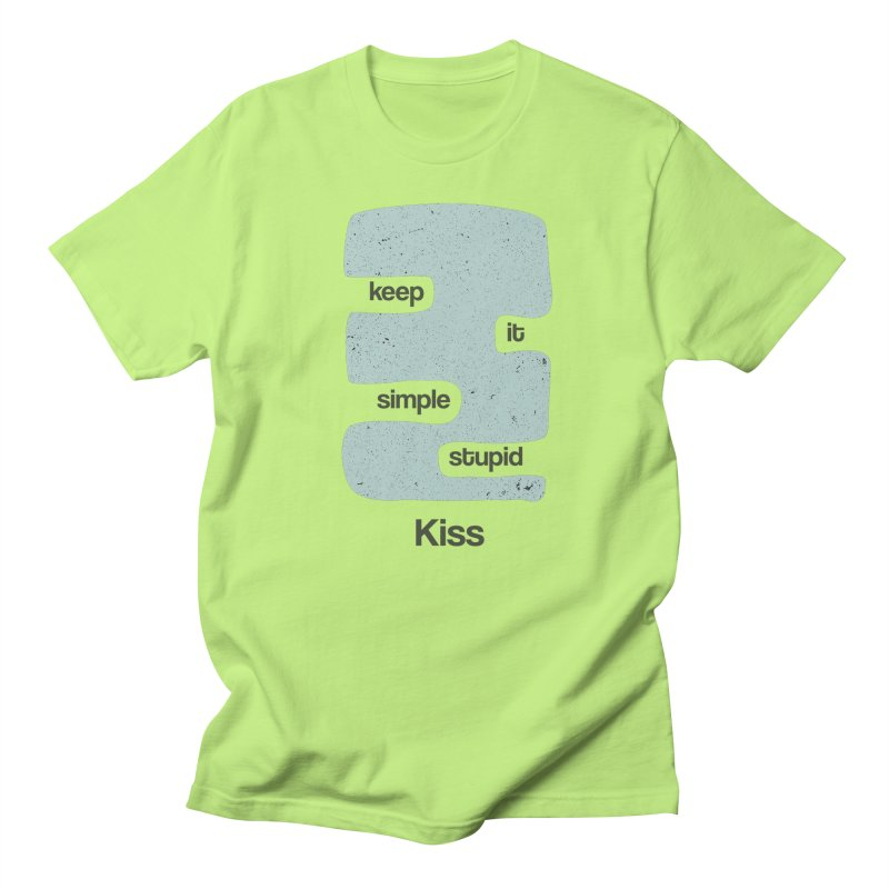 Kiss, Keep it simple - Vintage Blue Women's Regular Unisex T-Shirt by Caligráfica