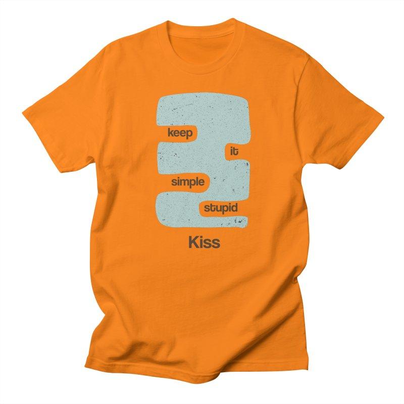 Kiss, Keep it simple - Vintage Blue Women's Regular Unisex T-Shirt by Caligráfica