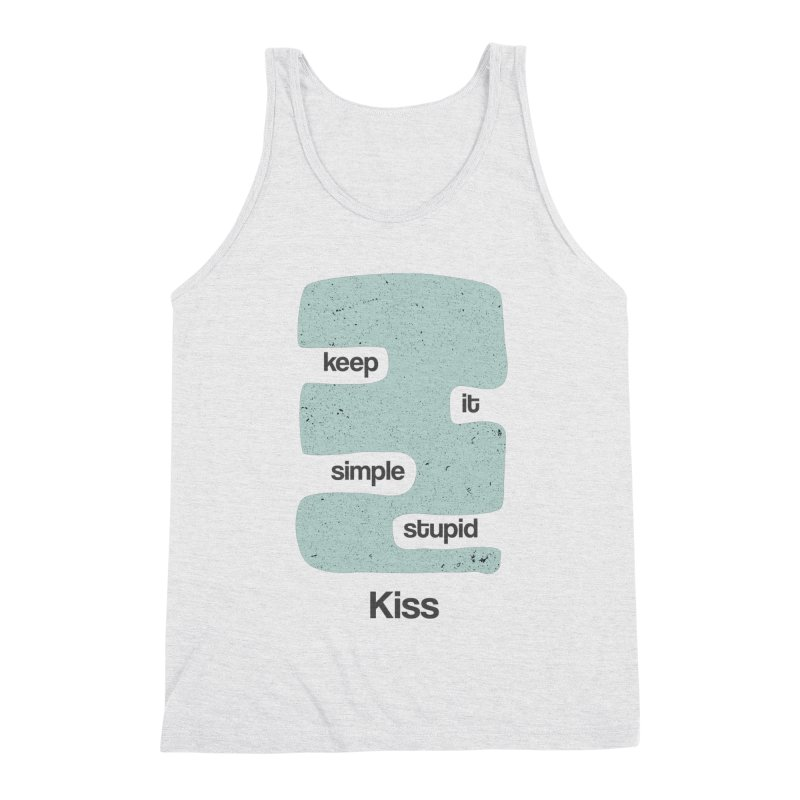 Kiss, Keep it simple - Vintage Blue Men's Triblend Tank by Caligráfica