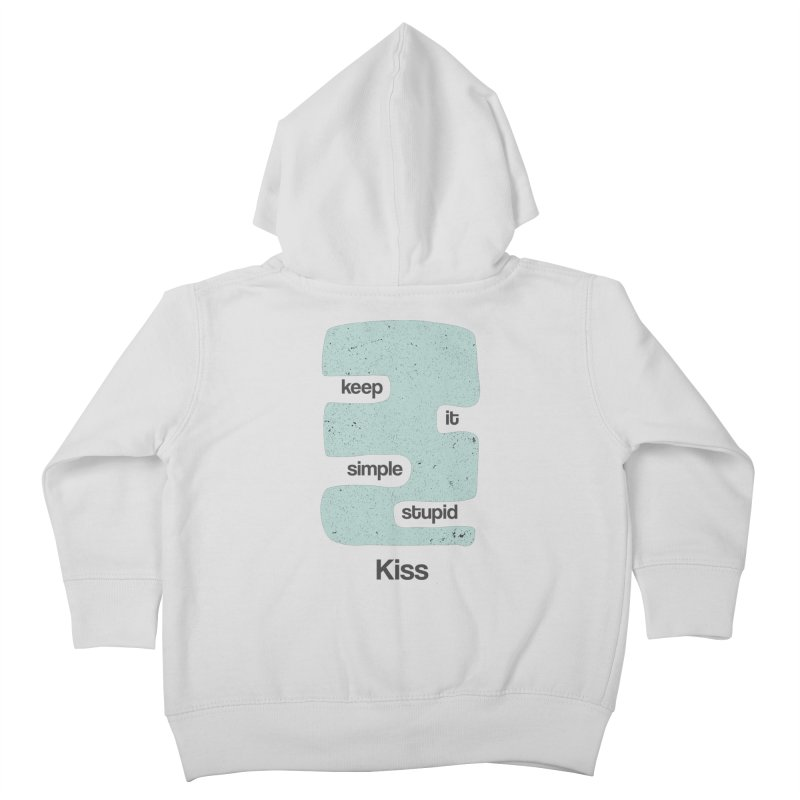 Kiss, Keep it simple - Vintage Blue Kids Toddler Zip-Up Hoody by Caligráfica