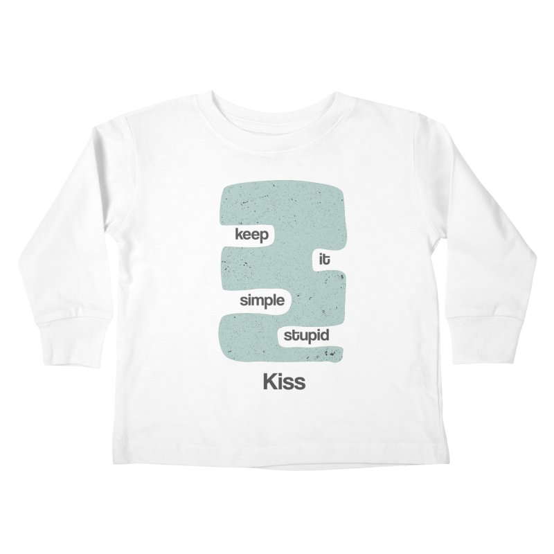 Kiss, Keep it simple - Vintage Blue Kids Toddler Longsleeve T-Shirt by Caligráfica