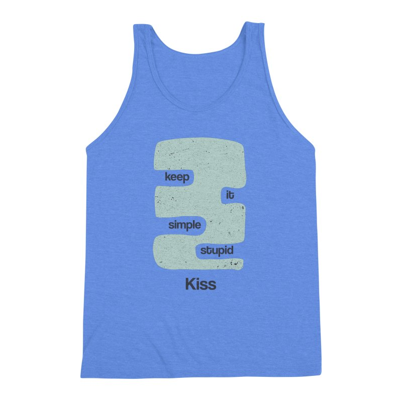 Kiss, Keep it simple - Vintage Blue Men's Triblend Tank by Caligráfica