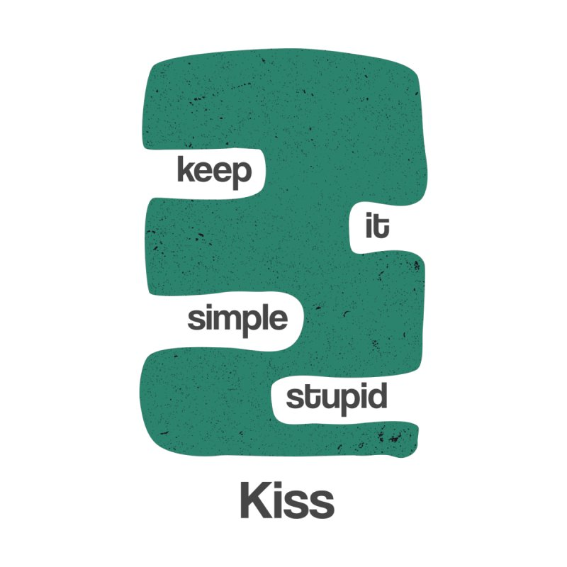 Kiss, Keep it simple stupid - Blue Retro by Caligráfica