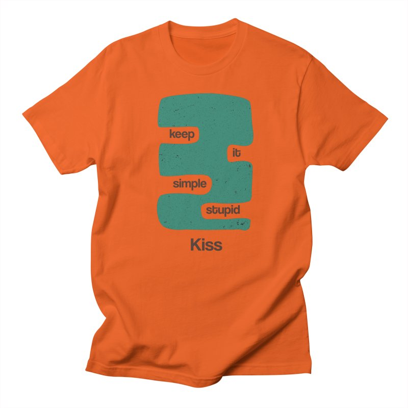 Kiss, Keep it simple stupid - Blue Retro Men's T-Shirt by Caligráfica
