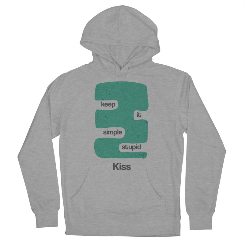 Kiss, Keep it simple stupid - Blue Retro Women's French Terry Pullover Hoody by Caligráfica