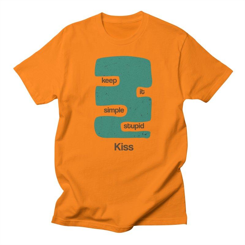 Kiss, Keep it simple stupid - Blue Retro Women's Regular Unisex T-Shirt by Caligráfica