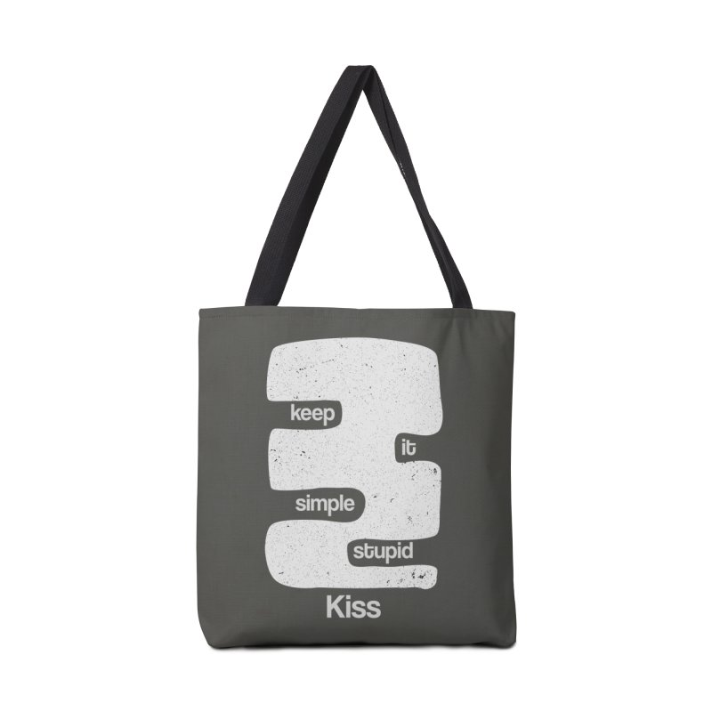 Kiss, Keep it simple - Black and white Accessories Bag by Caligráfica