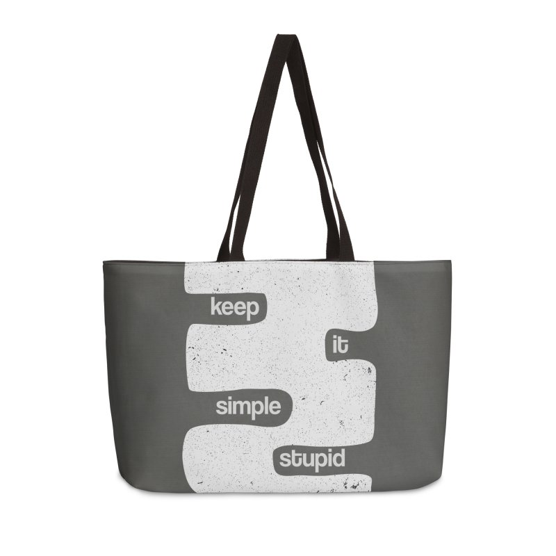 Kiss, Keep it simple - Black and white Accessories Weekender Bag Bag by Caligráfica