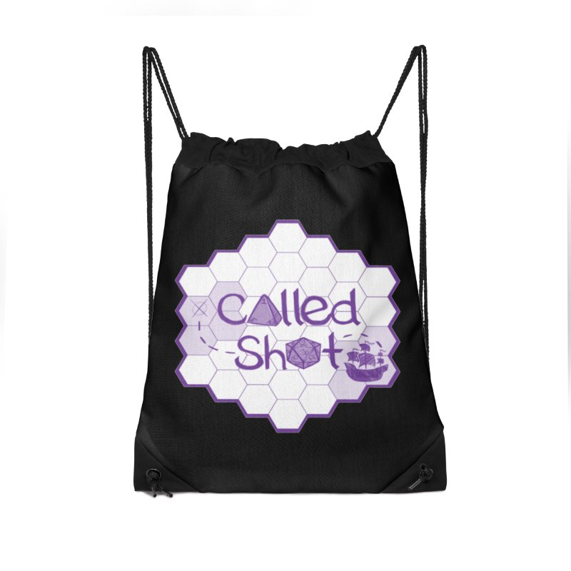 Called Shot Logo Accessories Drawstring Bag Bag by The Called Shot Podcast's Shop