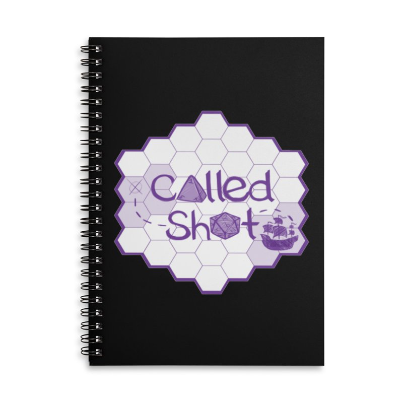 Called Shot Logo Accessories Lined Spiral Notebook by The Called Shot Podcast's Shop