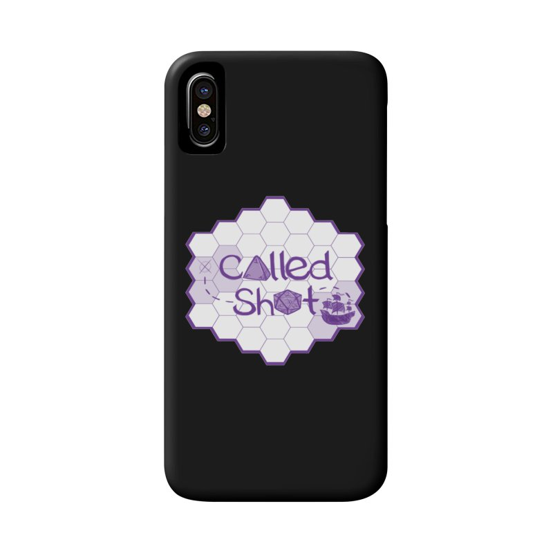 Called Shot Logo in iPhone X / XS Phone Case Slim by The Called Shot Podcast's Shop