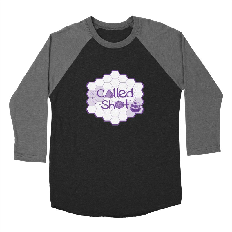 Called Shot Logo in Men's Baseball Triblend Longsleeve T-Shirt Grey Triblend Sleeves by The Called Shot Podcast's Shop