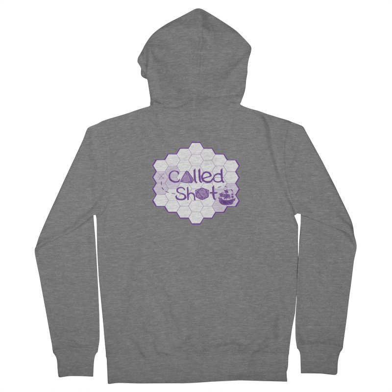 Called Shot Logo Men's French Terry Zip-Up Hoody by The Called Shot Podcast's Shop