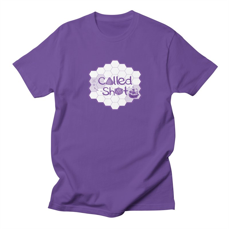 Called Shot Logo in Men's Regular T-Shirt Purple by The Called Shot Podcast's Shop