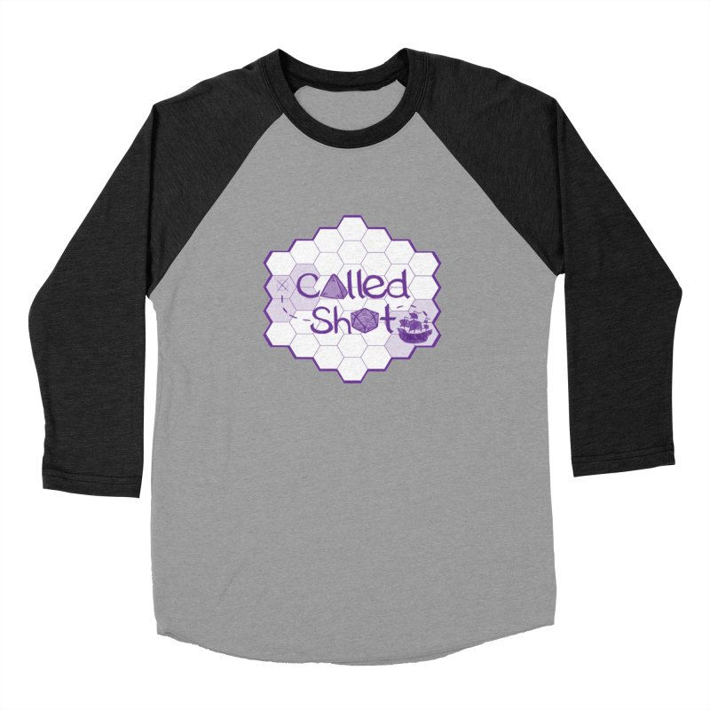 Called Shot Logo in Men's Baseball Triblend Longsleeve T-Shirt Heather Onyx Sleeves by The Called Shot Podcast's Shop
