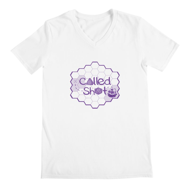 Called Shot Logo Men's Regular V-Neck by The Called Shot Podcast's Shop