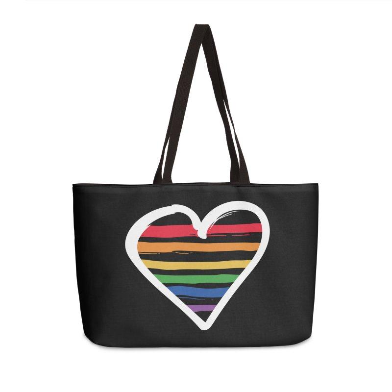 Painted on My Heart in Weekender Bag by Jo Lee
