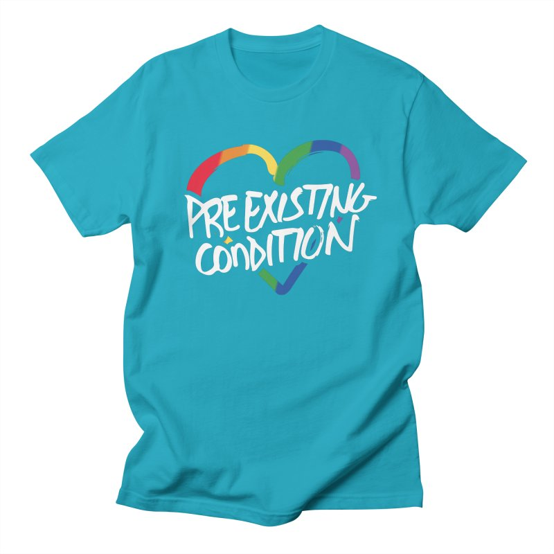 Pre-Existing Condition in Men's T-Shirt Cyan by Jo Lee