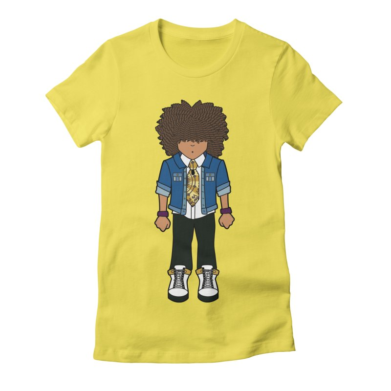 Jo-Chan in Women's Fitted T-Shirt Vibrant Yellow by Jo Lee