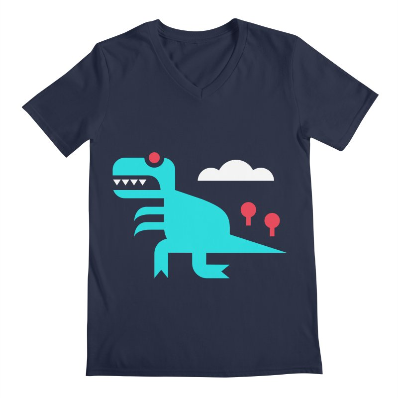 Tee-Rex Men's V-Neck by Cam Hoff on Threadless